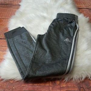 Adidas boys track pants gray sz large 14/16